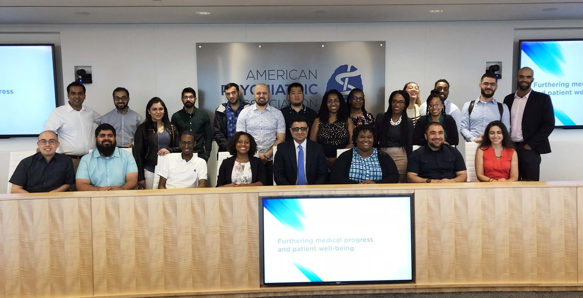 Excited to welcome @HowardU Psychiatry Residents for a tour of our HQ here in DC. Thank you to Mansoor Malik, MD, Associate Professor, Director, Psychiatry Residency Program, Dept of Psychiatry & Behavioral Sciences at Howard University Hospital and the residents! #psychiatry