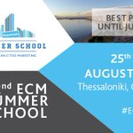 Did you register yet for the 32nd ECM Summer School in Thessaloniki? Best price is guaranteed until June 30! #ECMSS18 #WeAreECM https://t.co/72x657ekAS