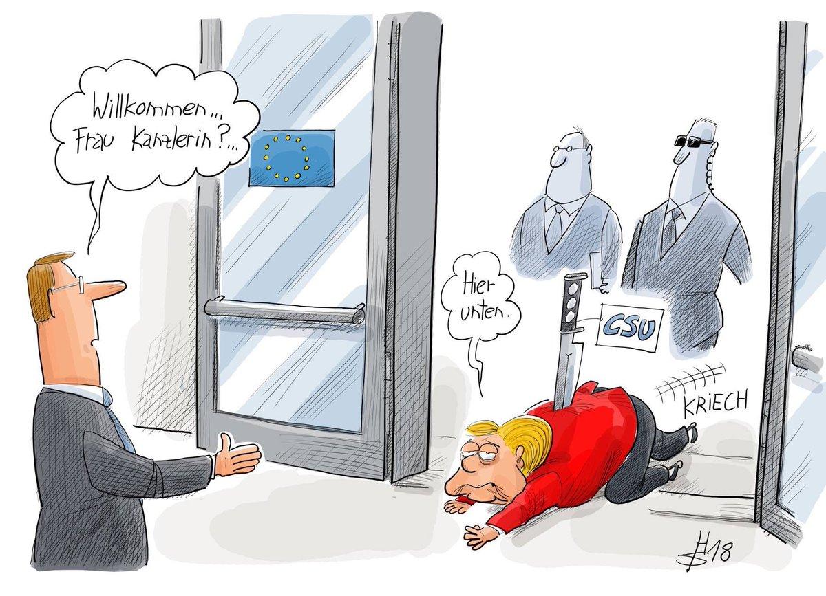 Merkel a son arrivée dans deux jours lors de la rencontre de bxl sur les migrations