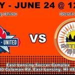 Image for the Tweet beginning: DETROIT SUN FC SUN TO BATTLE