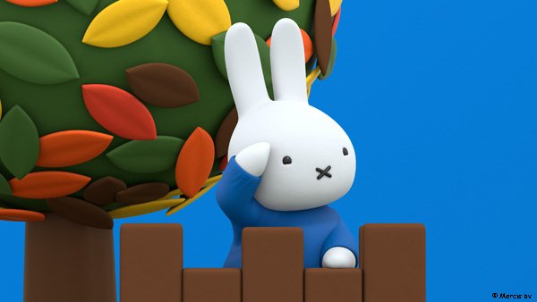 What can you see, Miffy?  Watch Miffy's Adventures on Tiny Pop at 6am and 7:30pm every day.