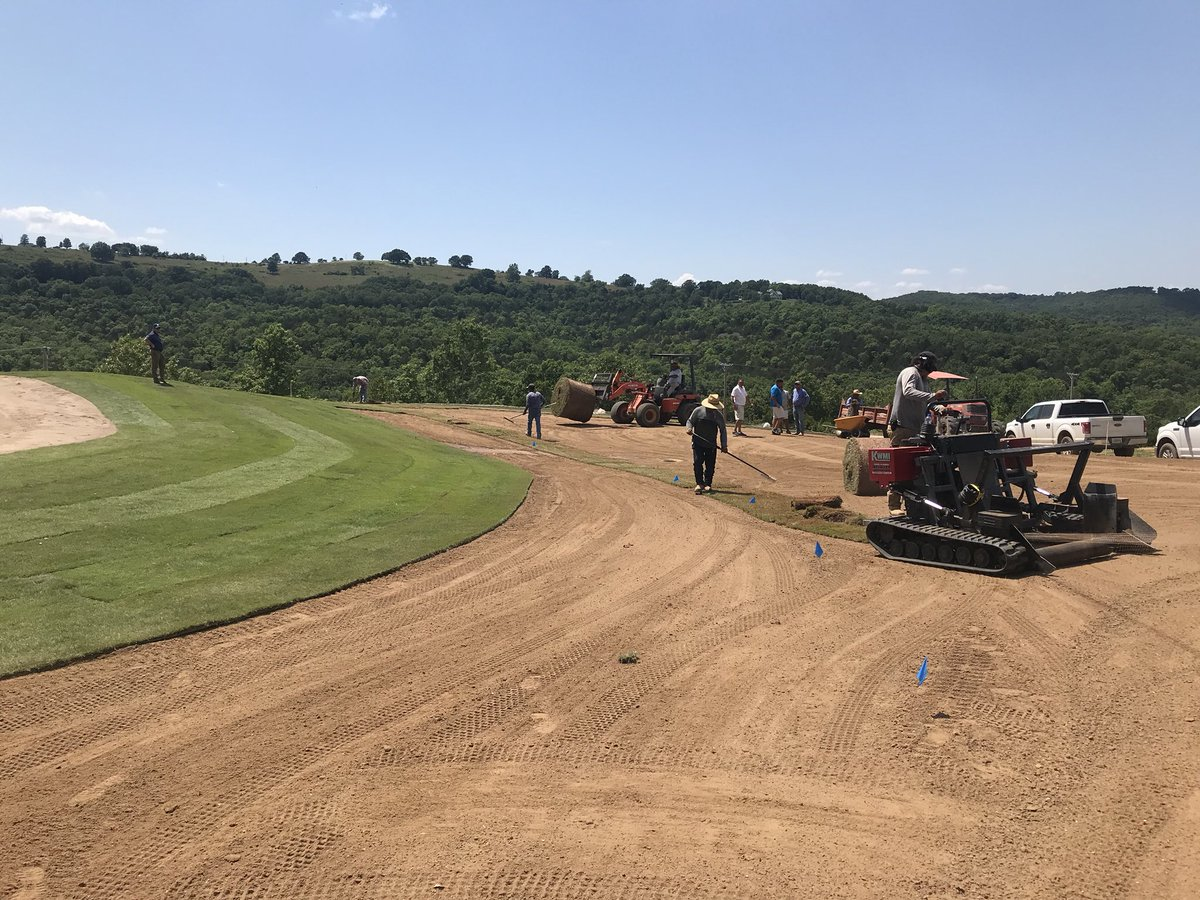 Grass is going down on Hole #6 at Payne's Valley. Exciting things to come with @GolfBigCedar!