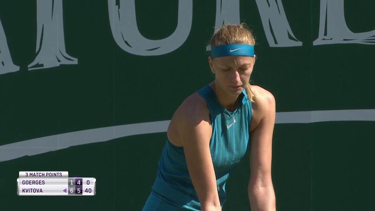 .@Petra_Kvitova gets the win over Goerges 6-1, 6-4!  Books #NatureValleyClassic semifinal place! https://t.co/o1T7Lz1A6c