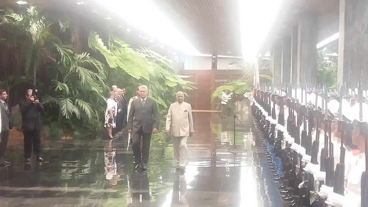 Recibimiento oficial del presidente de la India