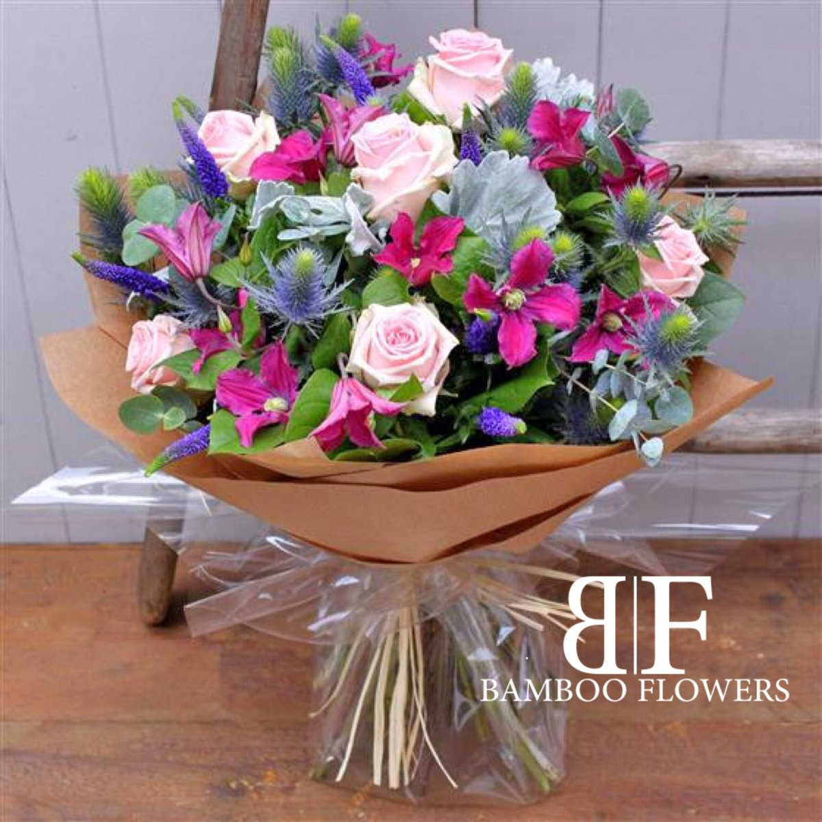 Bamboo Flowers Ltd On Twitter Our Simply Pink Rose Eryngium