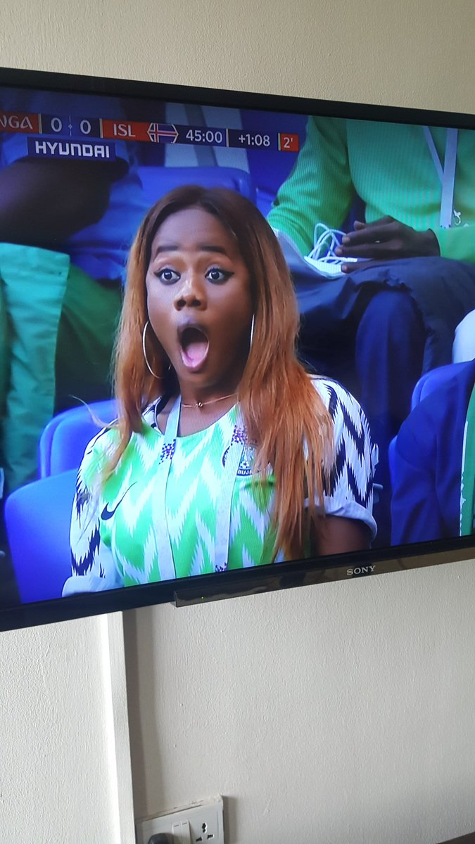 Please Somebody should help me tag my wife I have finally found her in this in this Nigeria vs Iceland match please dont stand in the way of true love please retweet till she see this Thaink You ☺ #NGAISL #WorldCup #NGAICE