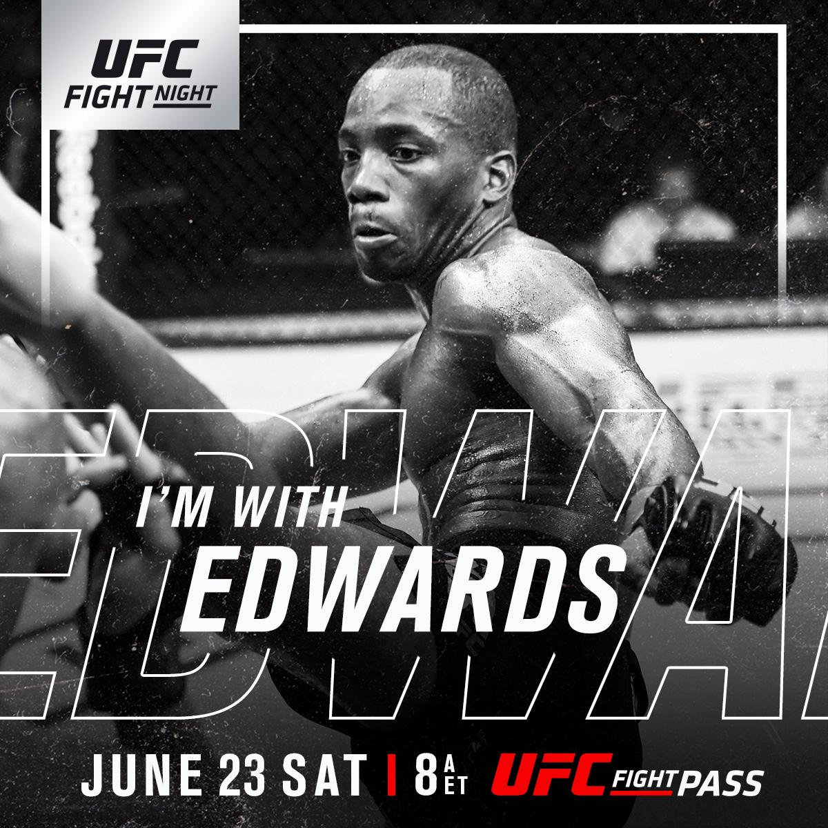 RT if you're w/ @Leon_EdwardsMMA at #UFCSingapore | TOMORROW | LIVE on @UFCFightPass! ➡️ https://t.co/cTQ7iRDGiW ⬅️ https://t.co/4ZfqKZxZss