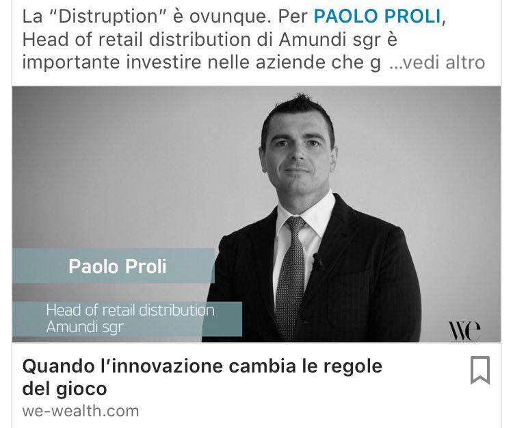 #disruption oltre le mode e attraverso i #settori alla ricerca dell'#innovazione nell'intervista a Paolo Proli di @Amundi_ENG. Scopri di più su http://we-wealth.com. @CPR_AM_ENG  - Ukustom