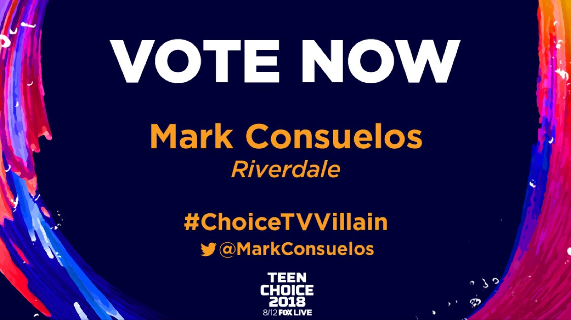 https://teenchoice.votenow.tv/.  If you need a distraction vote.. #choiceTVVillain @MarkConsuelos