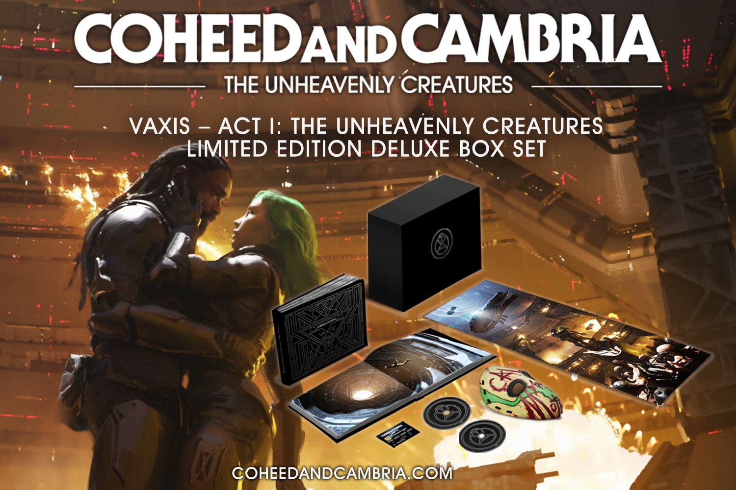 VAXIS - ACT I: The Unheavenly Creatures Limited Box Set is here! Pre-order now! https://t.co/hnGsv0mkwJ https://t.co/KNTTp8b8JF