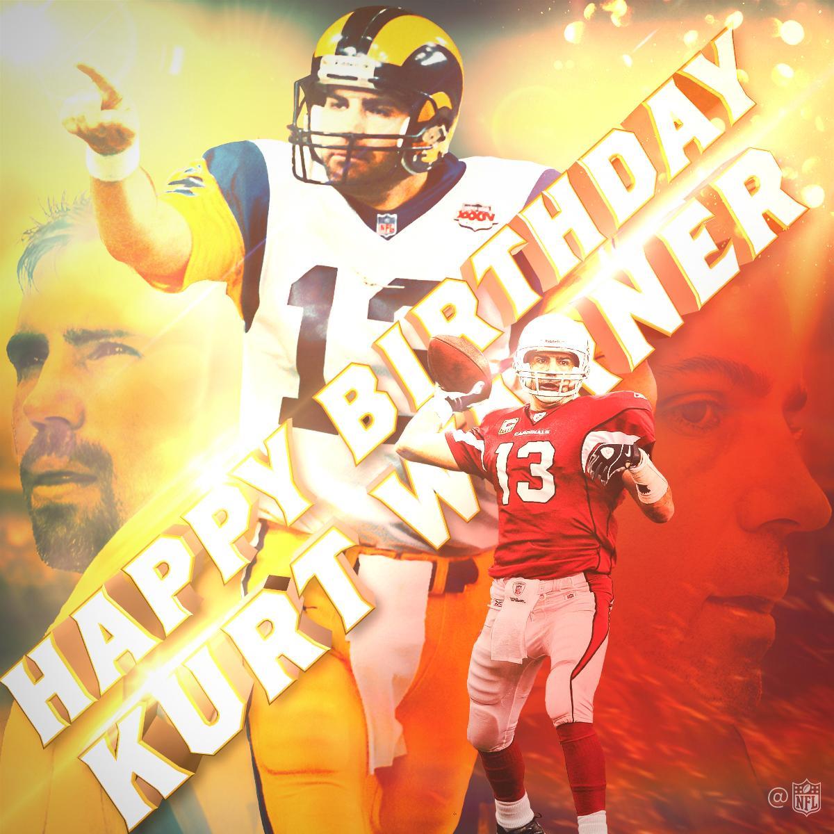 .@SuperBowl Champion. 2x MVP. @ProFootballHOF'er.  Happy Birthday to the great @kurt13warner! https://t.co/ahBTmhhTaV