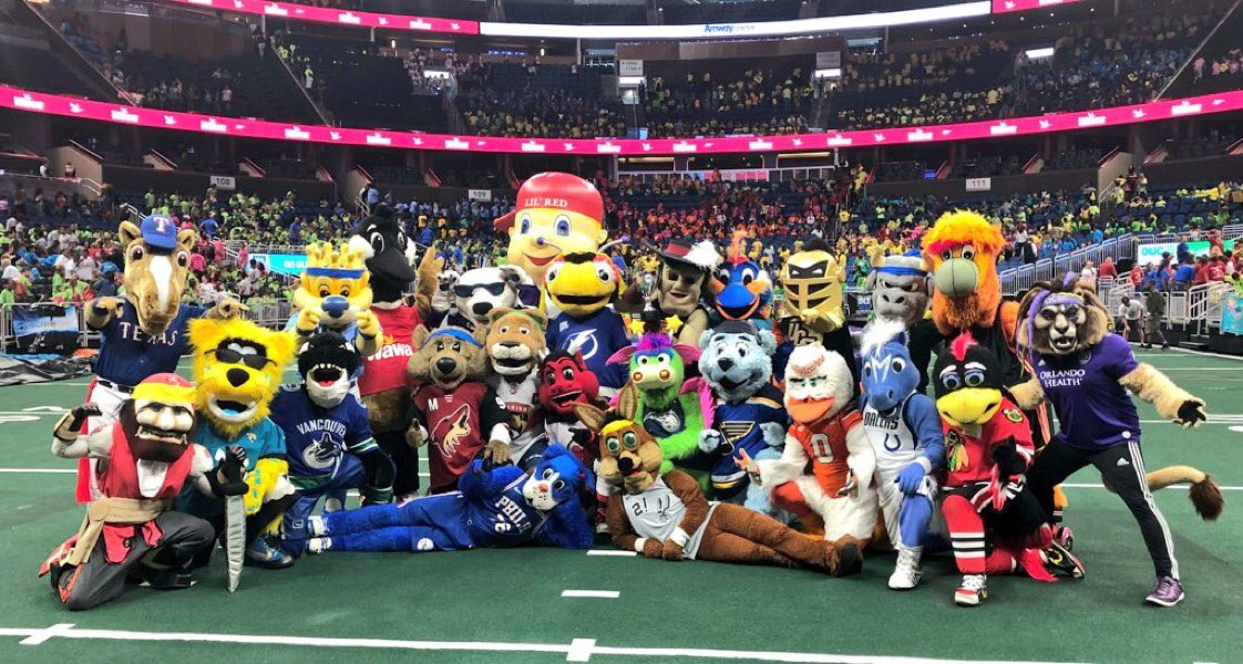 Day 1 of @MascotGames with 24 of the homies was 💯