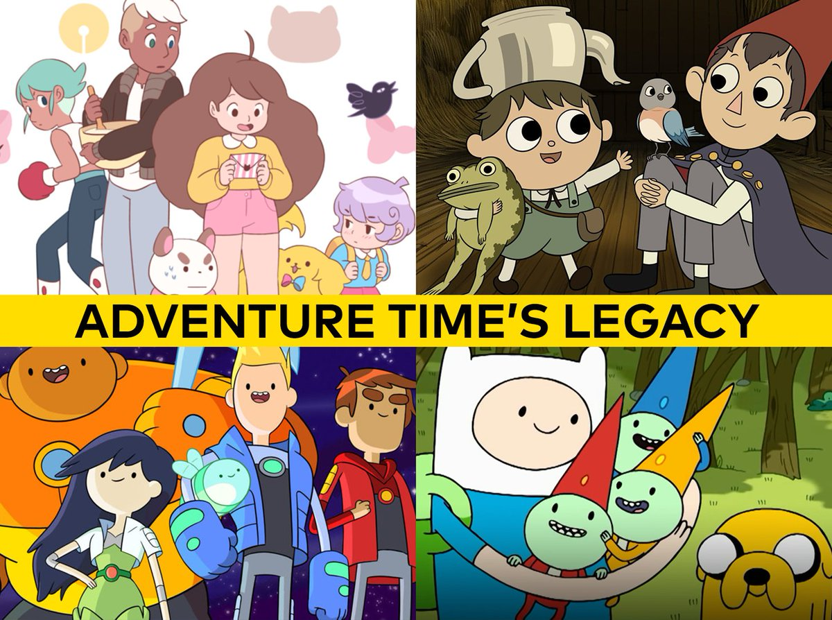 Look at the all the shows inspired by Adventure Time!!