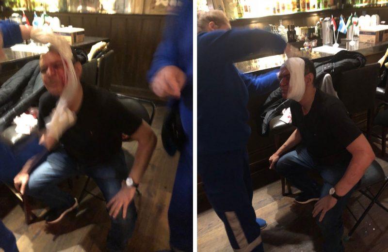 Assessor da CBF quebra copo na cabeça de torcedor que xingou presidente da entidade https://t.co/RrGpd2Inmy