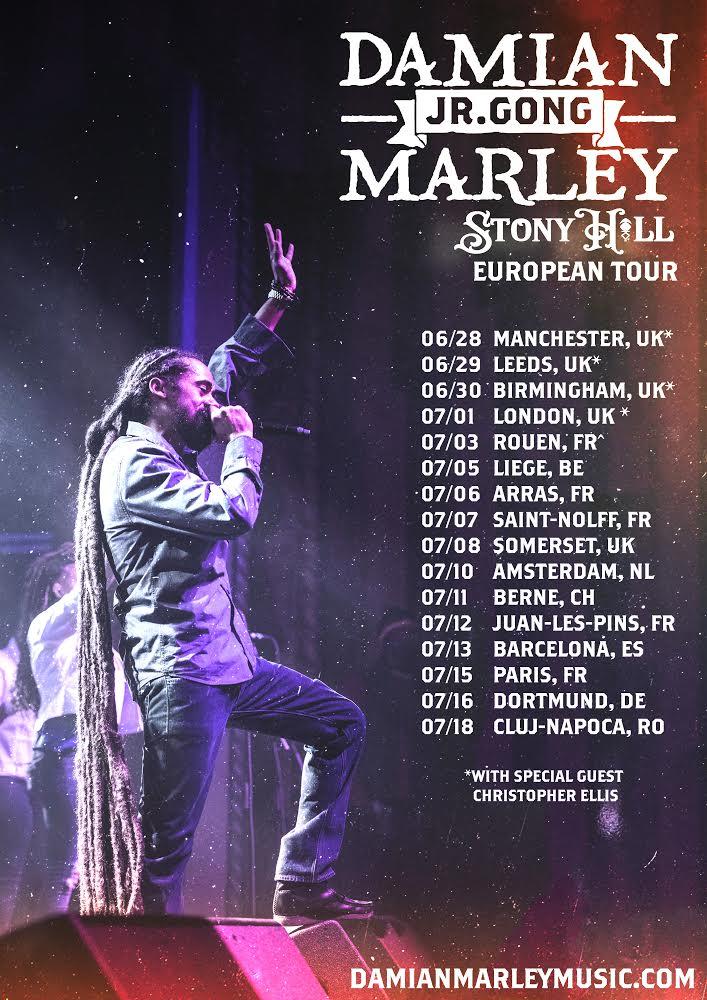 Gong Zilla in the UK + Europe starting next week!!! #DamianMarley #StonyHill #UK #Europe #Summer #Reggae #Vibes #HereWeGo More info: damianmarleymusic.com