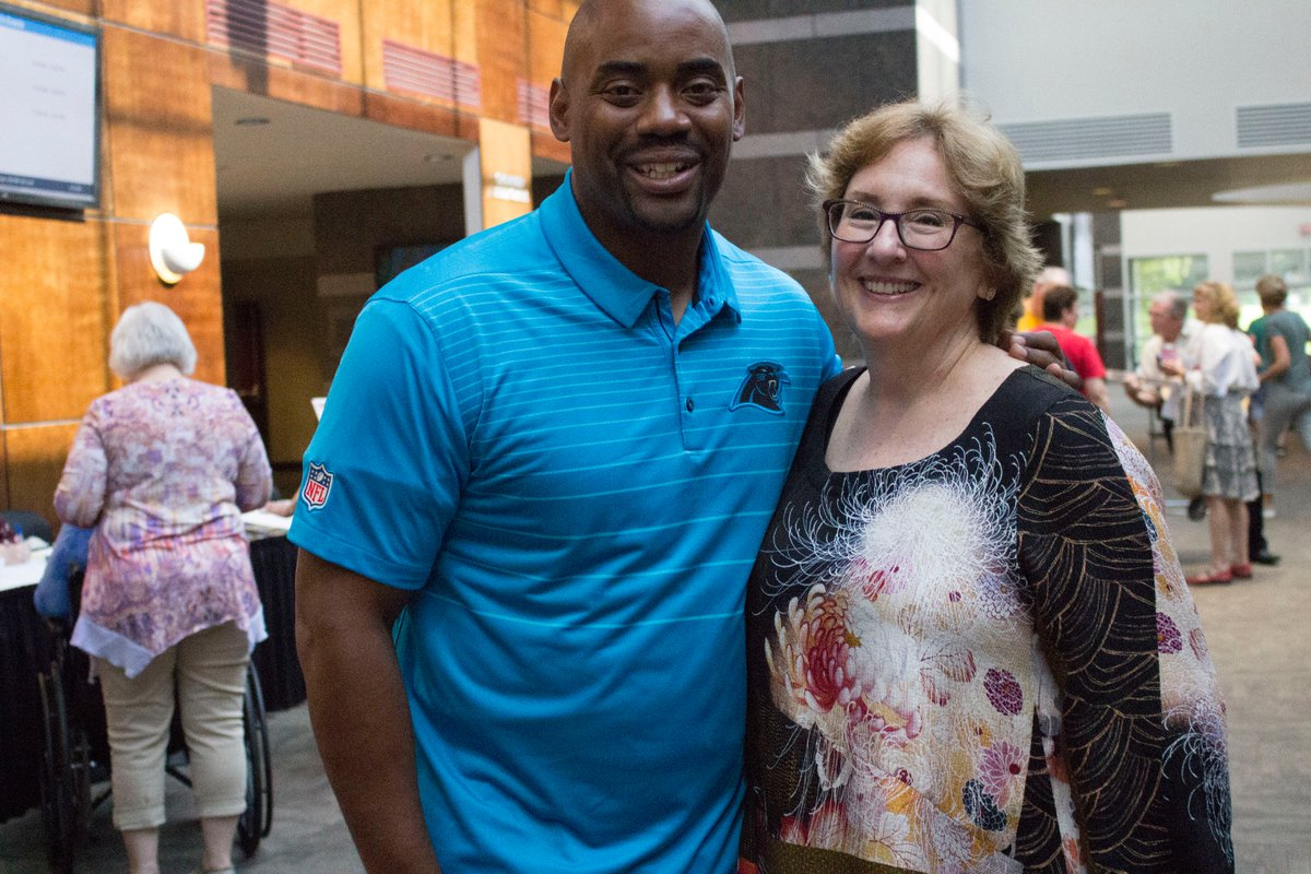 """""""Regardless of what's going on, I'm going to find the joy in each day because there has to be joy in each day."""" At @UNC_Lineberger's #CancerSurvivorsDay event, former @Panthers player and co-founder of @teamdraft @chrisdraft shared words of encouragement: https://t.co/5nI…"""