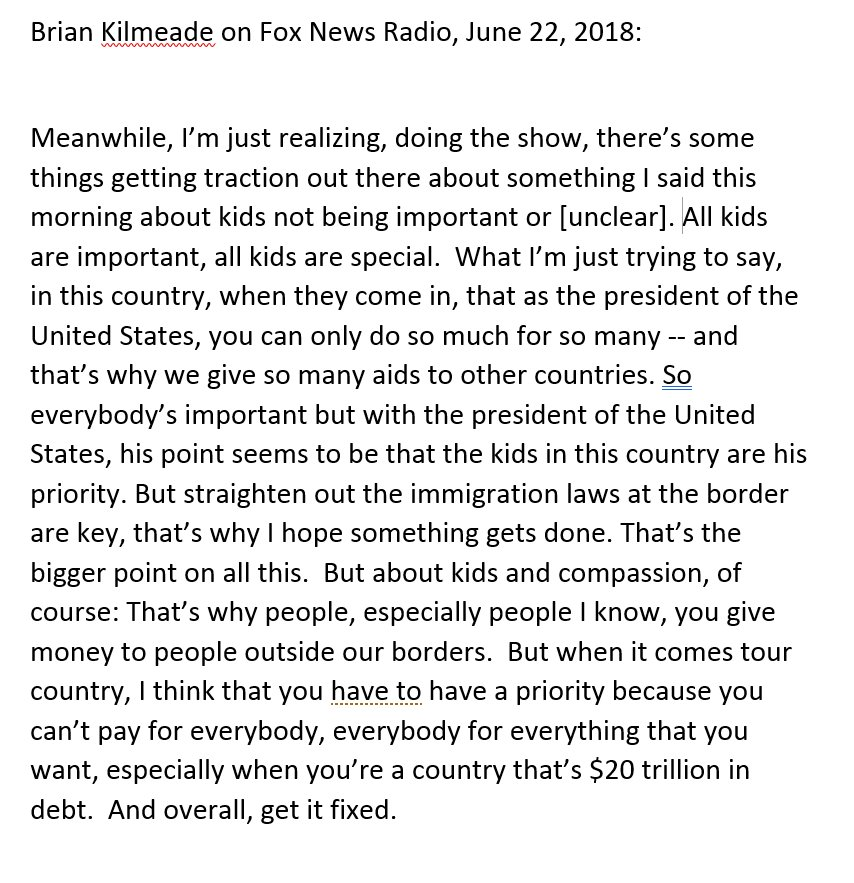 I watched the one-minute quasi-Kilmeade walkback and decided immediately that a transcript must be produced. Here it is.