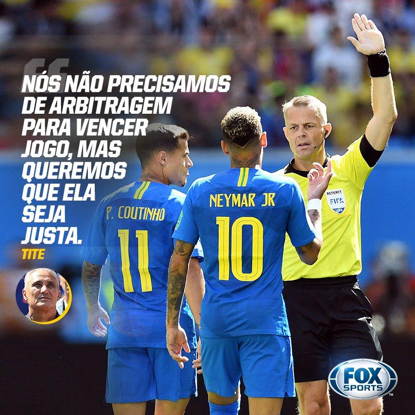 🇧🇷 Segundo jogo seguido com polêmica de arbitragem! A reclamação da Seleção é justa? #FOXnaRússia #JogaOqueSabe  🔁 SIM  ❤ NÃO