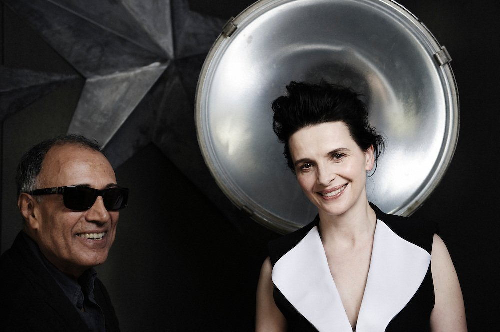Today Abbas Kiarostami would celebrate his birthday, we remember him with deep admiration. Here with Juliette binoche photographed by Antoine Doyen - Cannes, 2010.
