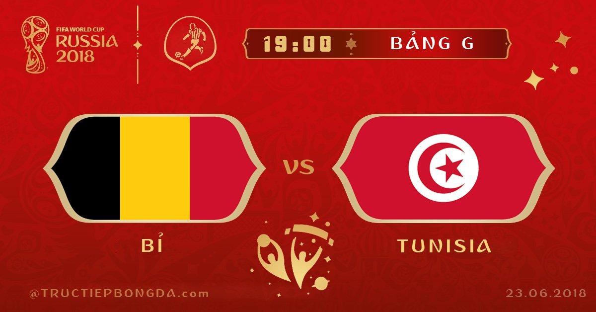 Bỉ vs Tunisia
