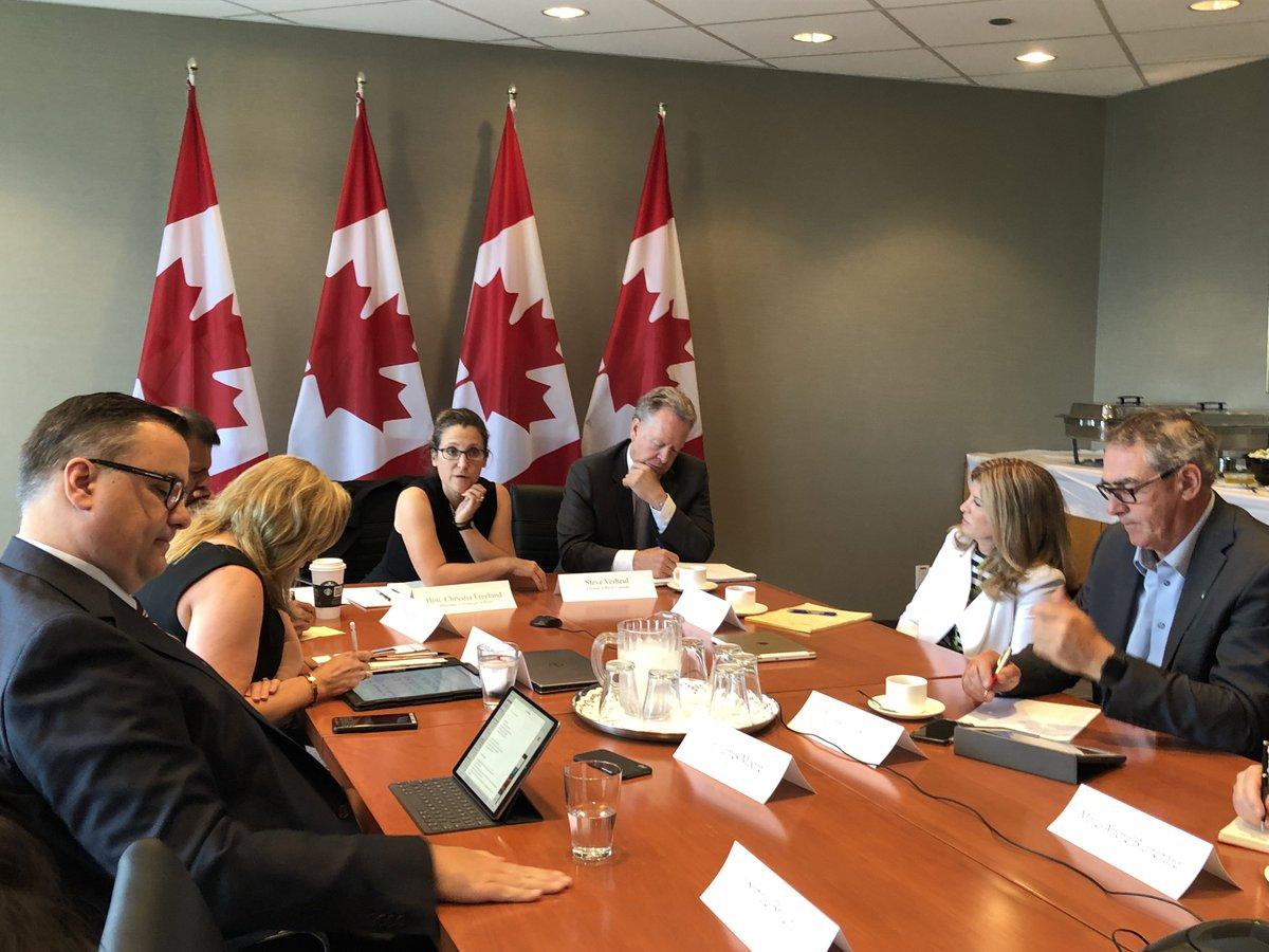 Conversations productives avec le Conseil de l'ALÉNA à #Toronto aujourd'hui. #CdnPoli