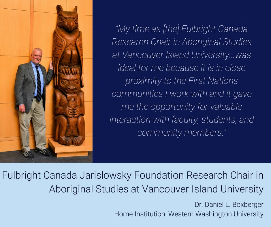 Creating opportunities for knowledge sharing and community engagement in indigenous studies is incredibly important. The #FulbrightCanada Research Chair Program offers a wide-range of opportunities in this field & related fields. Learn more: bit.ly/USindg @VIUniversity