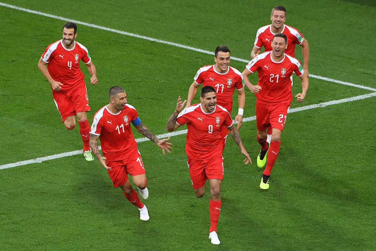 RECOMEÇA O JOGO NO SEGUNDO TEMPO: Sérvia vence a Suíça por 1 a 0 até aqui, pelo grupo do Brasil na Copa do Mundo; SIGA AO VIVO #estadaonacopa  https://t.co/BUJJqri6kJ