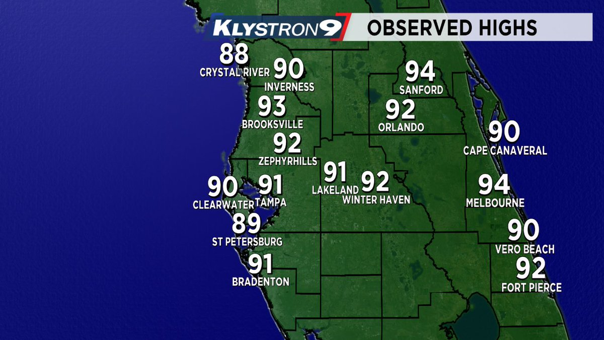 .@mcclureWX: By Florida standards...not too hot today due to an onshore breeze from the Gulf. #FLwx @BN9