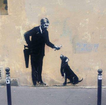 Посмотреть изображение в Твиттере В Париже появились новые граффити Бэнкси В Париже появились новые граффити Бэнкси DgUeIS7WkAAD3D9 format jpg name 360x360
