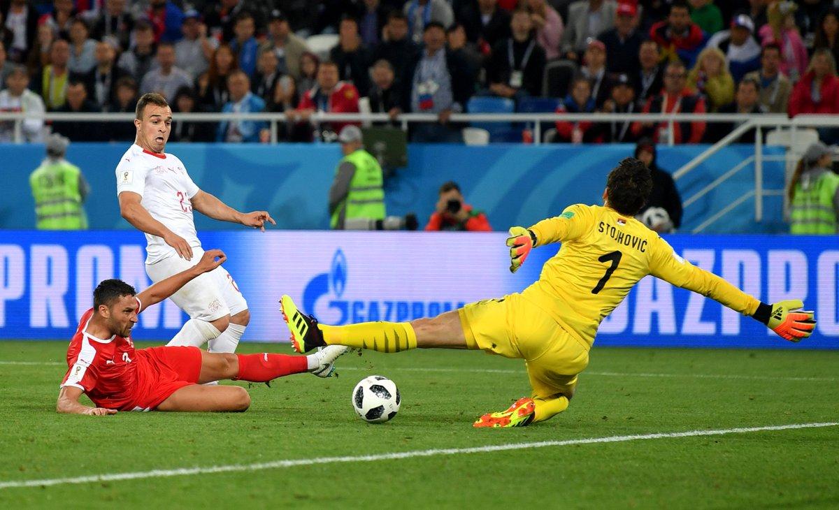 SHAQIRI STEALS IT!! INCREDIBLE. #SERSUI #WorldCup