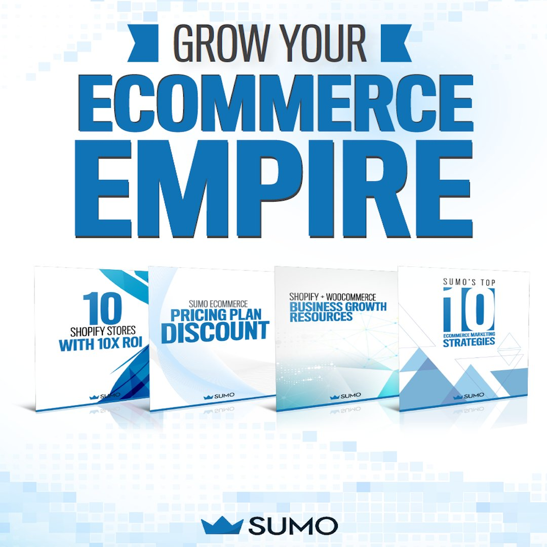 Sumo on twitter only today get our shopify and get our shopify and woocommerce business growth bundle that will provide you with marketing strategies resources and blueprints to increase conversions malvernweather Choice Image