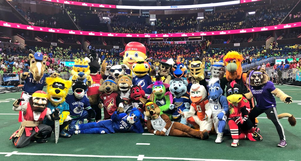 #MascotGames is currently trending NUMBER 1 in Orlando!! We can't wait to do it again tomorrow!!