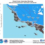 Image for the Tweet beginning: A deep marine layer will