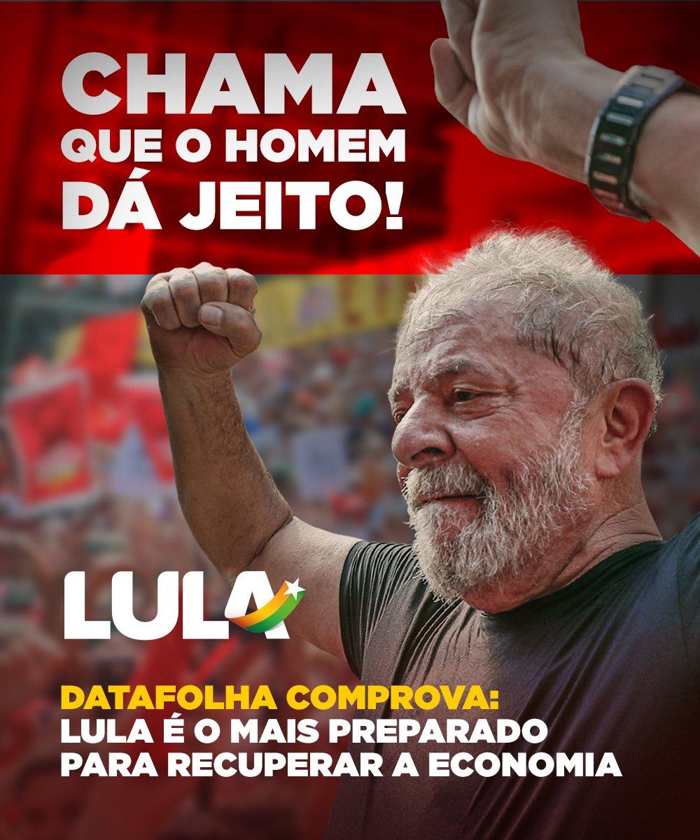 Lula é o favorito do Brasil para acelerar a economia, atesta Datafolha. Para 32% dos brasileiros, o ex-presidente é o mais preparado para reverter a estagnação que o país enfrenta 👉🏾👉🏾https://t.co/1otgEXVwDj