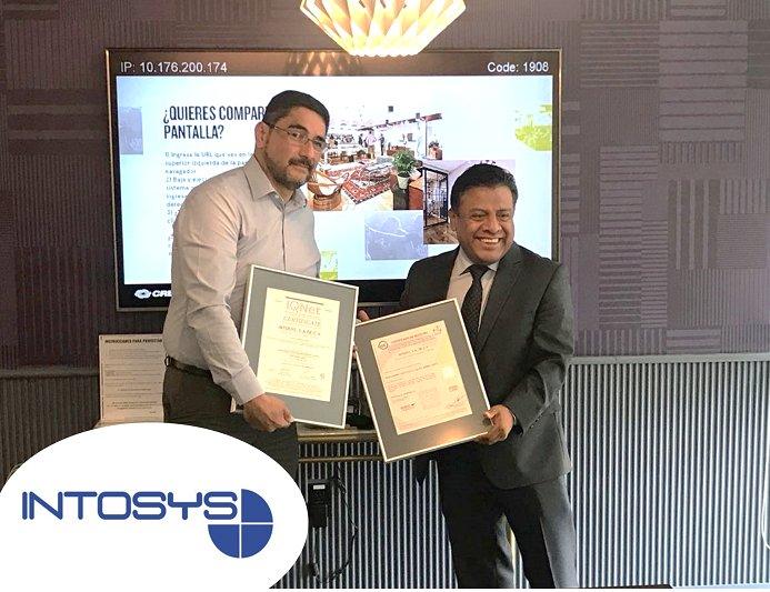 """Felicitamos a nuestro cliente @IntosysLATAM por el logro de su Certificación en #ISO_20000 """"Muchas Felicidades"""" a todo el equipo de trabajo de #Intosys que participó, así como al consultor asignado al proyecto @CharlyGtz_ACO de #Avantare"""
