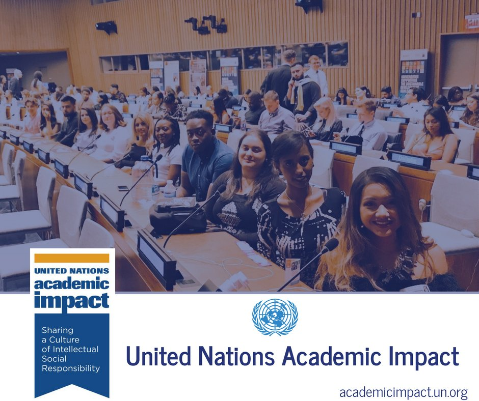 The UN Academic Impact connects higher education institutions with the UN. Learn more about how @ImpactUN members are helping achieve the #GlobalGoals &amp; more:  http:// academicimpact.un.org  &nbsp;   <br>http://pic.twitter.com/a1lzBscDxQ
