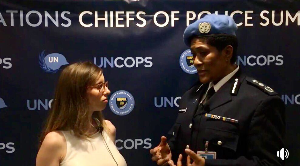 &quot;Women in post-conflict countries find it easier to relate their stories to women peacekeepers&quot; --@unmissmedia Police Commissioner on the role of women in @unpeacekeeping. Watch her interview at this week&#39;s #UNCOPS:  http:// bit.ly/2tBv3qX  &nbsp;  <br>http://pic.twitter.com/95hgZTNaTt