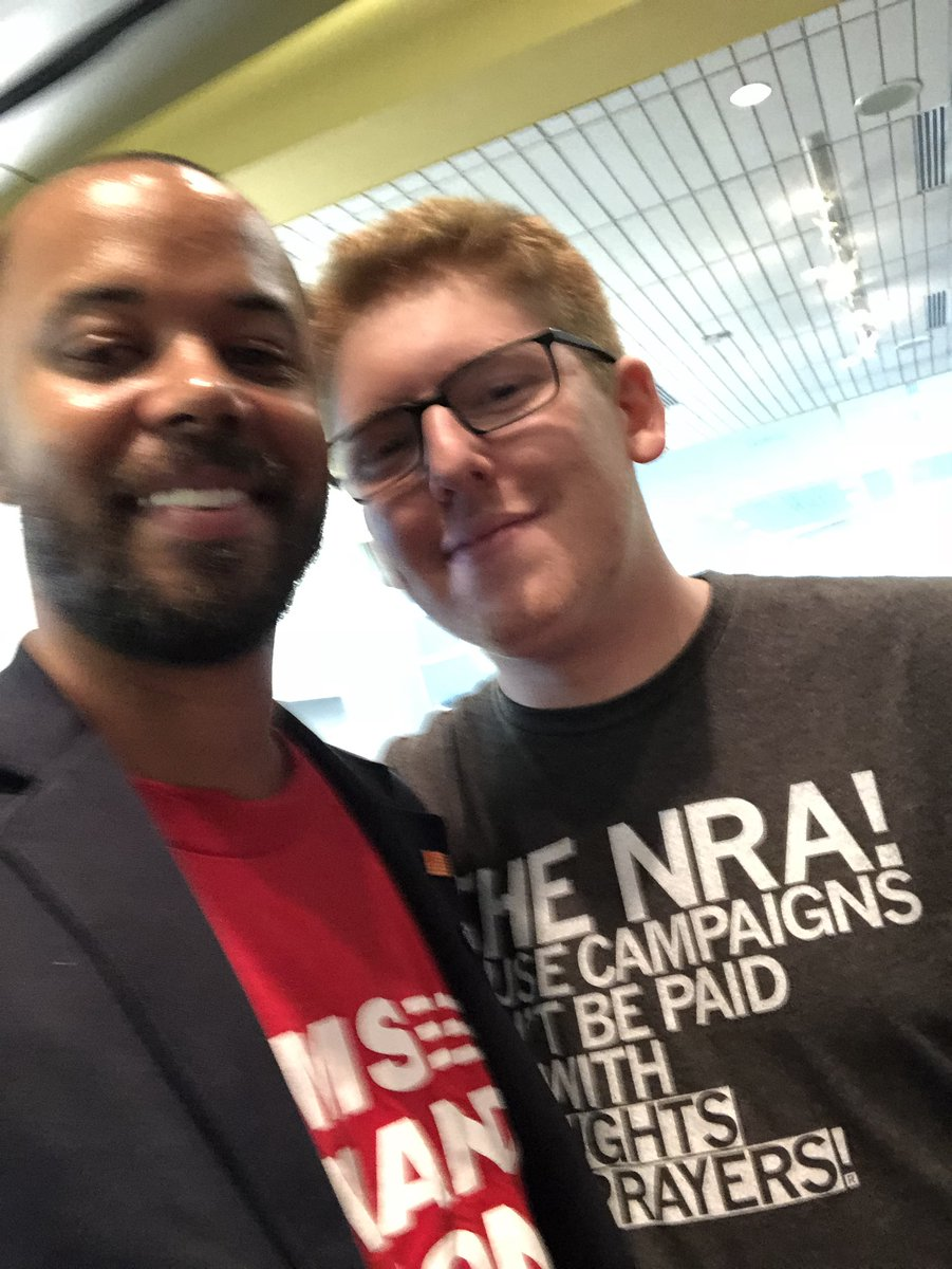 I am sincerely appreciative of the kind words my friend @MattxRed said to me this evening at the #RoadToChange event in Madison. Gun suicide survivors like me & our stories are often ignored, but not by Matt. Thanks brother 🧡