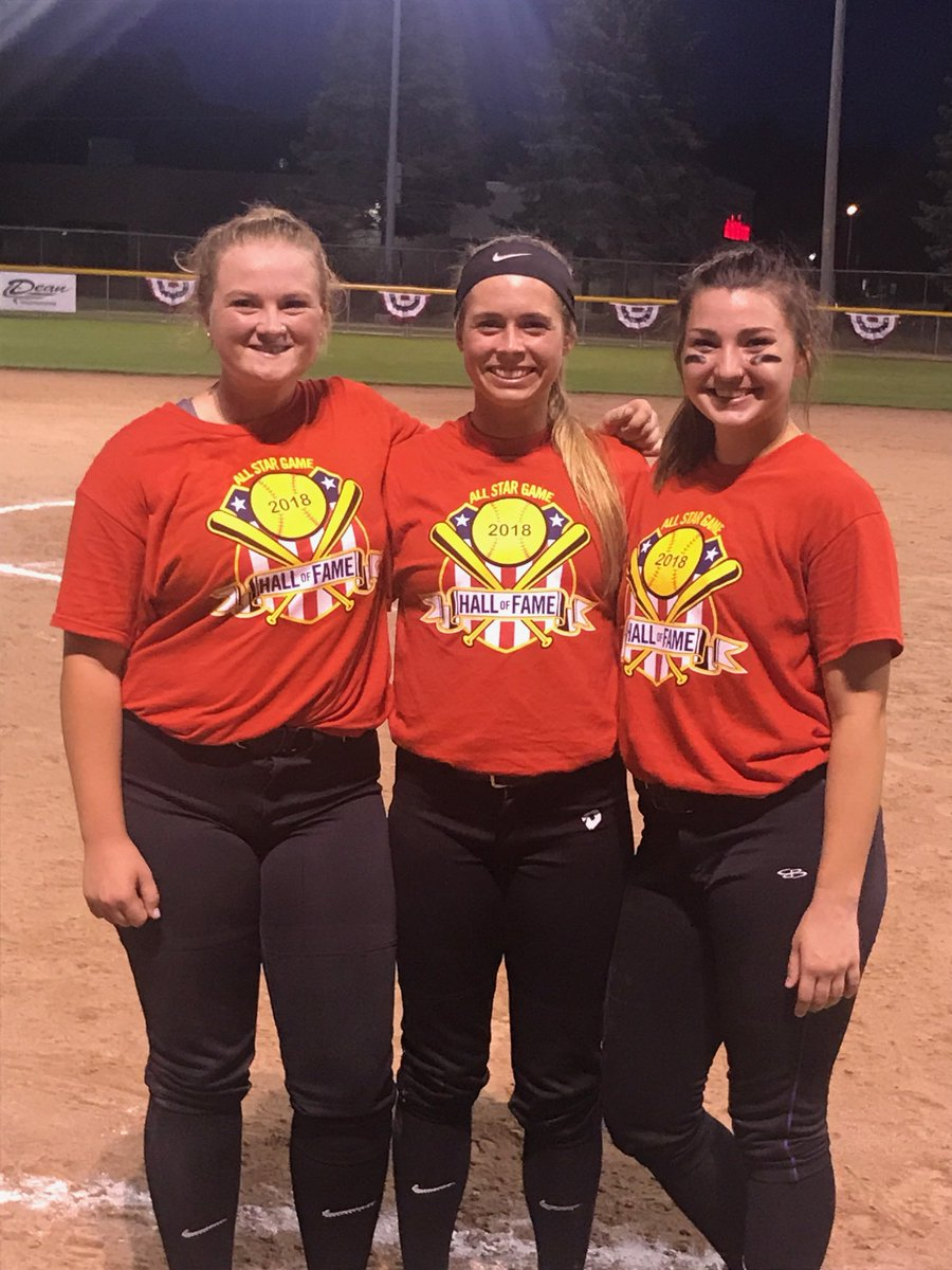 Former OHS stars Alison Ellsworth, Jaclyn Groves &amp; Brenna Madry shined for the winning South team in one of two Greater Lansing Hall of Fame All-Star Softball games in Lansing tonight. Ellsworth ripped a 3-run double, Madry had a 2-run homer &amp; Groves pitched 3 scoreless innings. <br>http://pic.twitter.com/qqZCN2Oi9E