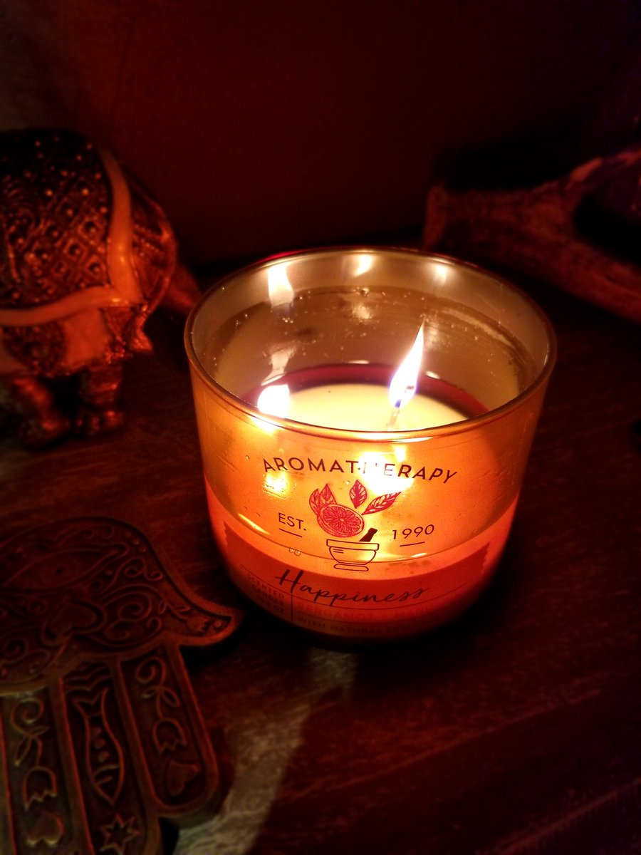 This Happiness Aromatherapy candle is truly one of my favorites!