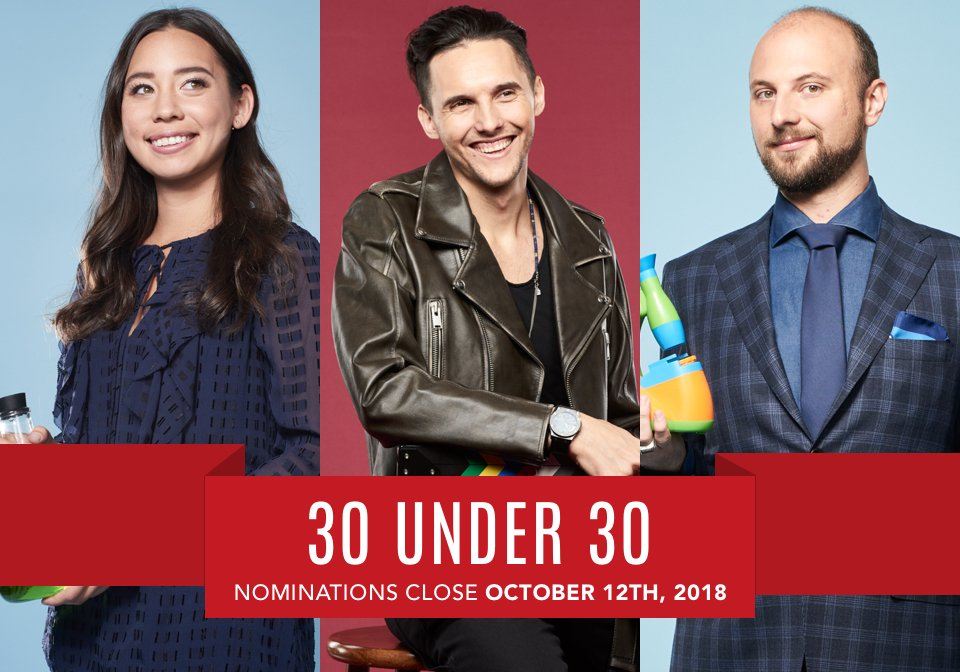 Nominations are now open for Forbes' 2019 30 Under 30 list: https://t.co/9Am895AHEy