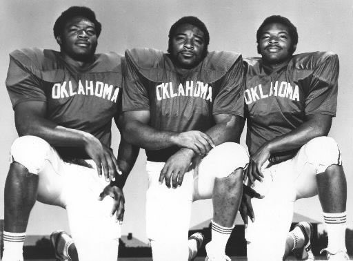 Selmon brothers (this pose) plus Gautt, Kalsu, Waddy Young, &amp; Jerry Anderson. Billy Tubbs for OU basketball. L Dale Mitchell (if you going to name the park after him...just sayin). Thurman Thomas and Bob Fenimore come before anyone at O State outside of Sanders and Kurland. <br>http://pic.twitter.com/3Lt0EunNAp