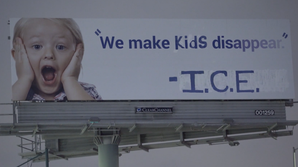 Activists vandalize billboard to blast ICE: 'We make kids disappear' hill.cm/1E1EyWq