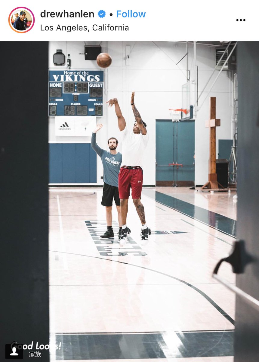 Listen, @DrewHanlen is a businessman. Markelle Fultz's shooting form is a golden ticket product for him to sell. If Hanlen didn't think Fultz was making strides, he wouldn't be marketing him like this.