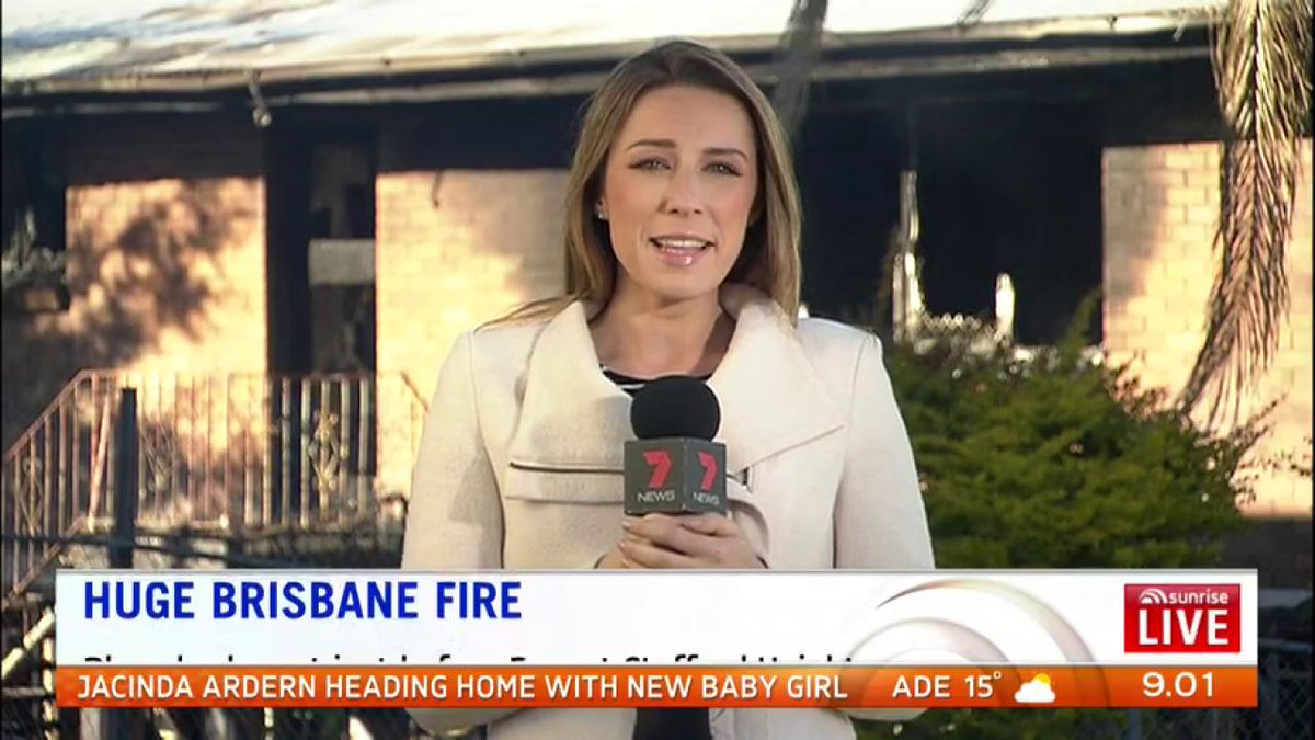 A woman has run from her burning home consumed by a massive fire in Brisbane overnight. #Brisbane #7News