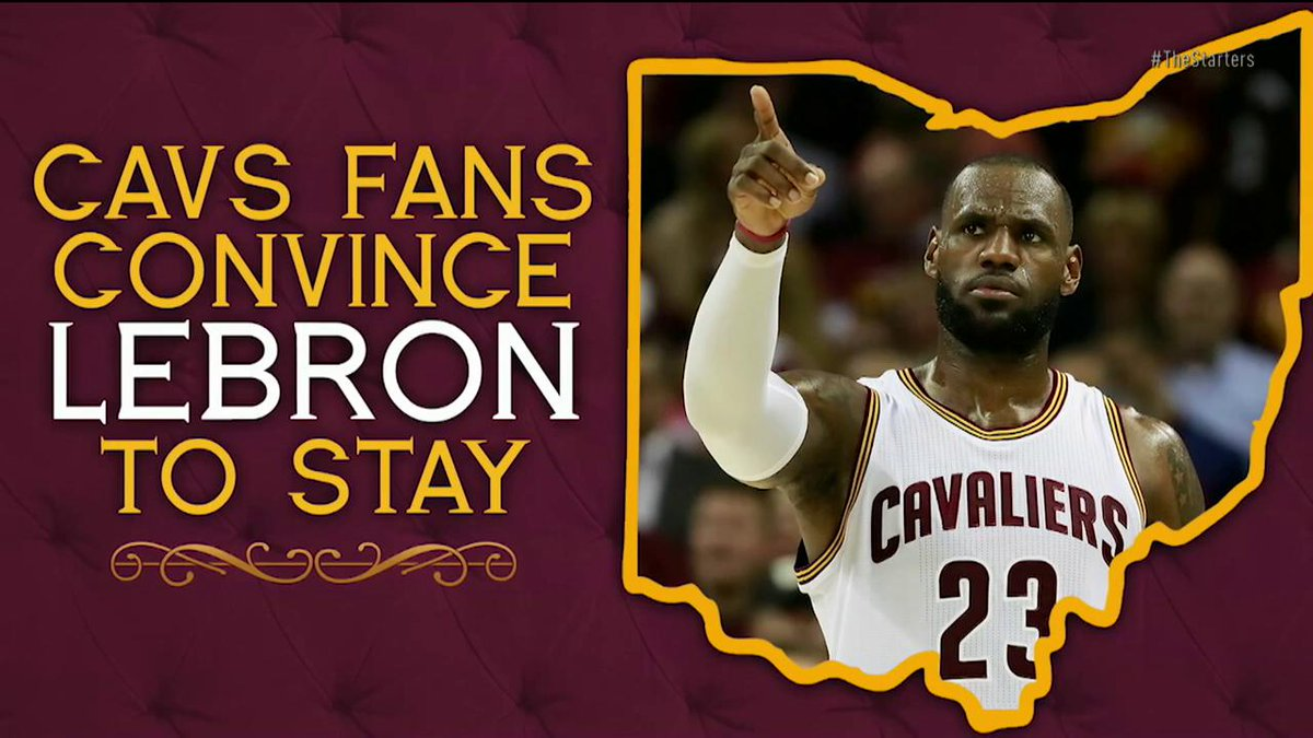 Cavs fans convince LeBron to stay 😂. #TheStarters