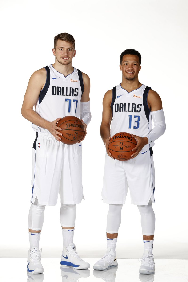 New Mavs. @luka7doncic wearing the Nike Hyperdunk 2017 and @jalenbrunson1 in the Nike KDX