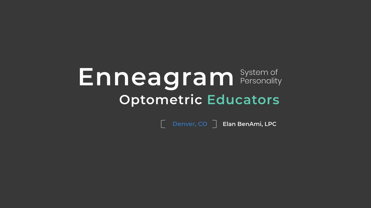Thank You @AOAConnect for inviting me to present The #Enneagram System of Personality at #OM2018. It was cool to glimpse into all you do for optometry and education... now you can see through the 'personality lens' too 😉 👓 #healthyeyeshealthylives