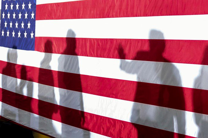 Without a shadow of a doubt, @POTUS casts a shadow at his campaign rally in Duluth Wednesday night, (Official WH Photo posted today by D. Myles Cullen.)
