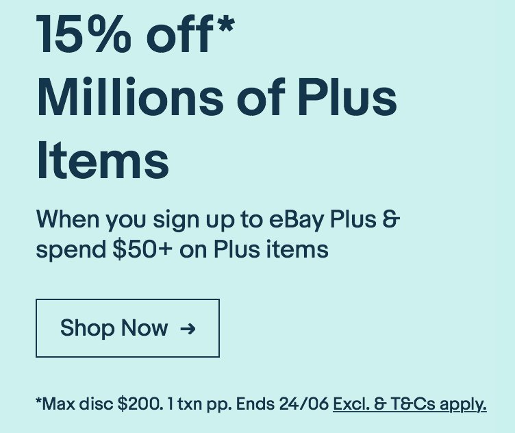 Sigh. There is some serious fine print on the eBay Plus Weekend specials. Missed that 'maximum $200 off' business. No camera for me.